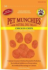 Pet Munchies Chicken Chips 100% Natural Dog Treats Grain Free 100g x Box 8