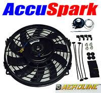 "Aeroline Electric Car Radiator Cooling Fan 9"" Universal Fitting Inc. Thermostat"
