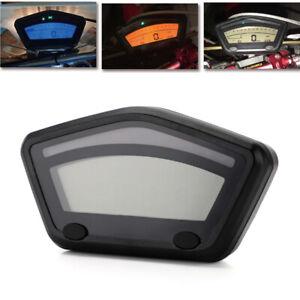 Motorcycle LCD Digital Gauge Panel Speedometer Tachometer 0~99999.9km Odometer