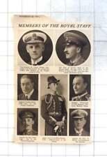 1921 Royal Staff Members, Newport, Meade, Piers Legh, Dudley North