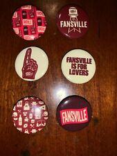 Dr Pepper Fansville Rare Button Set (6) Ncaa College Football