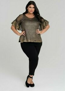 """""""TS-Virtuelle"""" Dahlia Black/Gold Pullover, Size S, BNWT  !!! FREE POSTAGE !!!"""