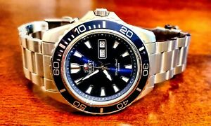 Orient Mako XL Japanese Automatic SS Diving Watch Blue Dial FEM75002DW