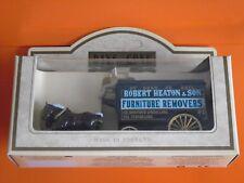 Lledo No 11017 -Diecast Model Of A Black Horse Drawn Delivery Van - HEATON & SON