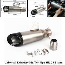 38-51mm Motorcycle ATV Dirt Bike Universal Stainless Exhaust+Muffler Pipe Slip