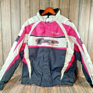 FXR Women's Velocity Series Jacket - White/Pink/Black - Size 12 - Racing Jacket