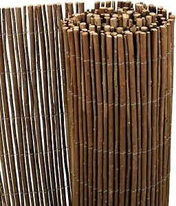 Willow Natural Garden Fence Screening Roll 4m Wide Privacy Border Sun Protection