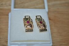 Ladies Black hills gold fancy watch band set with Rubies retired jeweler