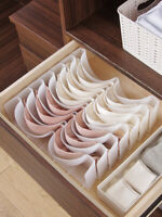Closet Underwear Organizer Drawer Divider, Wardrobe Bra Storage Box , 6pcs/Set