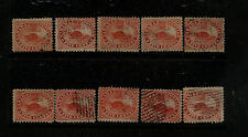 Canada   #15   10 used beaver stamps  used  catalog $375.00       MS0804