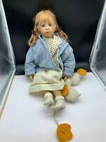 Heidi Plusczok Vinyl Puppe 63 cm. Top Zustand