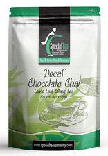 8 oz. Decaf Chocolate Chai Loose Leaf Black Tea Includes Free Tea Infuser