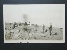 Original WWI British Army Graveside Military Burial/Funeral Photo RPPC