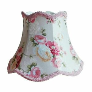 Floral Lampshade Home Lighting Cover Table Desk Lamp Shade Lovely Textile Decor