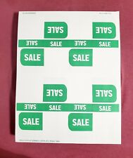 Green Sale Label Retail Store Price Stickers Tags Labels 50 Sheets