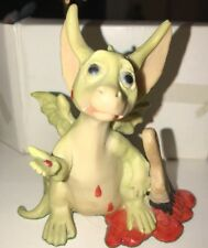 "Whimsical World Of Pocket Dragons ""Your Paint Is Stirred� Artist Signed 4� Mint"