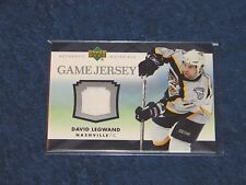 DAVID LEGWAND NASHVILLE PREDATORS 2007-08 UPPER DECK GAME JERSEY #JDL (H-302)