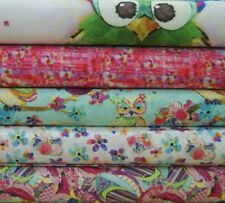 BOHO OWLS Cotton Fabrics By Connie Hayley * Quilting * Craft * Dressmaking