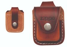 GENUINE ZIPPO BROWN LEATHER POUCH (98002) WITH LOOP IN BOX - AU STOCK !