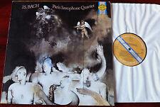 CBS M 39514 PARIS SAXOPHONE QUARTET PLAYS J.S. BACH LP NM HOLLAND (1985)