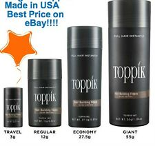 Toppik Made in USA Dark Brown Black Medium Brown Light Brown Blonde Auburn Grey