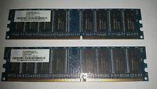 Nanya NT512D64S8HC0GY-5T PC3200U-30331 1GB (512MBx2) DDR 400 CL3 - HP 326668-882