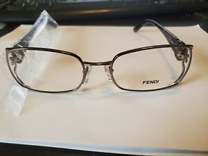 NEW Fendi RX Frame F872 GUNMETAL BROWN Made in Italy 52/17/135 PERFECT AUTHENTIC