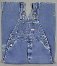 Vintage OshKosh B'Gosh Union Made VestBak Denim Bib Overalls Blue 32x30