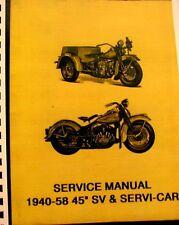 Harley davidson manuals literature ebay or best offer 1940 1958 harley davidson service manual 45 sv servi car 80 fandeluxe Choice Image