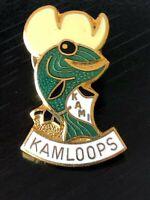 Collectible Vintage Kamloops Kami Colorful Metal Pinback Hat Pin Lapel Pin