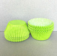 Lime Green Cupcake Liners, Lime Green Cupcake Wrappers, Lime Green Baking Cups