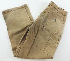 Carhartt B01 BRN Men's Pants 32 x 32 Vintage Double Knee Work Dungaree Fit Brown