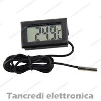 LCD TERMOMETRO MISURATORE ELETRONICO CON SONDA DIGITALE IGROMETRO TEMPERATURA