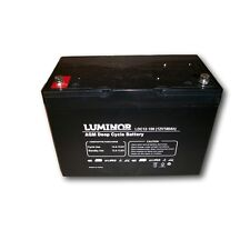 Batteria LUMINOR LDC12-100 - AGM DEEP CYCLE - 12V/100Ah - stazionaria