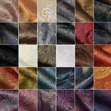 Paisley Jacquard Dress Lining Fabric Polyviscose Skirt Upholstery Waistcoats