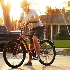 "26"" Inch Wheel Bicycle Beach Cruiser Bike Men Comfort Aluminum Balloon Tire Red"