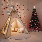 Large Canvas Kids Teepee Indian Tent Child Wigwam Indoor Outdoor Play House Gift