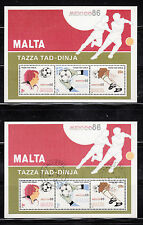 103598/ Malta 1986 - Bl. 9 - Fußballweltmeisterschaft - **/o - M€ 15,00