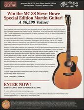 The Steve Howe Signature Martin MC-38 acoustic guitar contest giveaway 8 x 11 ad