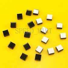 20pcs Black Heat Sink for StepStick A4988 Chip IC Thermal Adhesive 8.8*8.8*5mm