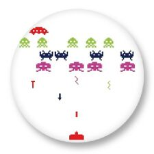 """Pin Button Badge �˜25mm 1"""" Retro Game Arcade Game Vintage Jeux 80s Space Invaders"""
