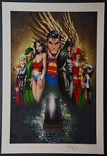 Superman Batman Michael Turner Aspen Art Print