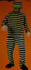 New Convict Prisioner Zombie Dress Up Costume 4-6X boys HALLOWEEN COSTUME