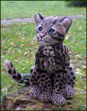 Unique, one of a kind needle felt ocelot kitten, leopard cat, long-tailed cat,