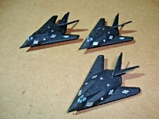 Micro Machines Military F-117 Nighthawk Stealth Jet Aircraft Lot Of 3 Nice