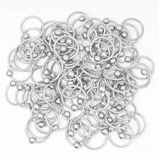 "Wholesale Lot of 100pc Captive bead ring cbr-18g 3/8"" 316L Surgical Steel"