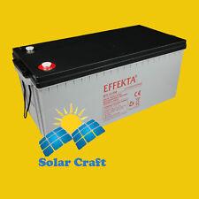 Batterie solaire 12V 200Ah Gel. Panneau solaire Chargeur énergie photoviltaique