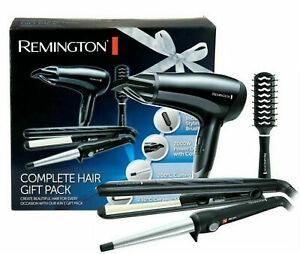 Remington Remington Hair Dryer, Wand, Straightener & Brush Gift Set