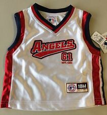 LOS ANGELES ANGELS ANAHEIM BASKETBALL-STYLE JERSEY WHITE SIZE 18M NEW WITH TAGS