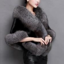 Elegant Women's Faux Fox Mink Fur Luxury Cape Stole Shawl Wrap Shrug Scarf NEW
